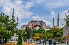 圣索非亚大教堂博物馆& x28; 历史清真寺和Church& x29; 伊斯坦布尔土耳其 免版税库存图片
