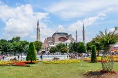 圣索非亚大教堂博物馆& x28; 历史清真寺和Church& x29; 伊斯坦布尔土耳其 免版税图库摄影