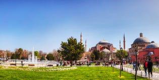 圣索非亚大教堂在伊斯坦布尔,土耳其早晨 免版税库存照片