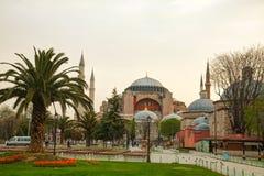 圣索非亚大教堂在伊斯坦布尔,清早土耳其 库存照片