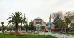 圣索非亚大教堂在伊斯坦布尔,清早土耳其 库存图片