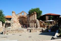 圣索非亚大教堂教会,老Nessebar,保加利亚 图库摄影
