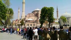 圣索非亚大教堂清真寺在伊斯坦布尔,土耳其 免版税库存图片