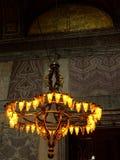 圣索非亚大教堂老枝形吊灯 库存图片