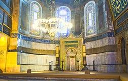 圣索非亚大教堂近星点  库存图片