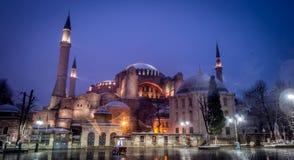 圣索非亚大教堂- Ayasofya在伊斯坦布尔,土耳其 图库摄影