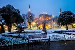 圣索非亚大教堂- Ayasofya在伊斯坦布尔,土耳其 免版税图库摄影