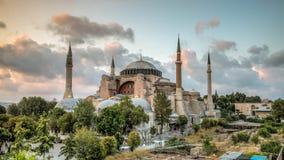 圣索非亚大教堂Ayasofya在伊斯坦布尔, Turjey 免版税库存图片