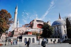 圣索非亚大教堂Ayasofya,伊斯坦布尔 免版税库存照片