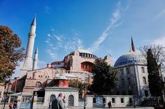 圣索非亚大教堂Ayasofya,伊斯坦布尔 库存照片