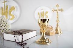 圣洁首先的圣餐 免版税库存图片