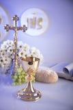 圣洁首先的圣餐 免版税库存照片