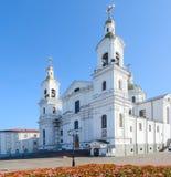圣洁Dormition大教堂,维帖布斯克,白俄罗斯 库存照片