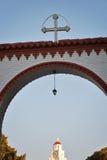 圣洁Tsambika在罗得岛 库存照片