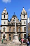 圣Assisi法郎教会在萨尔瓦多,巴伊亚 免版税库存照片