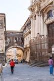 圣Benedetto教会在卡塔尼亚市 免版税库存照片