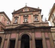 圣Benedetto教会在波隆纳 免版税库存照片