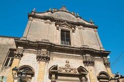 圣Benedetto教会  马萨夫拉 普利亚 意大利 库存照片