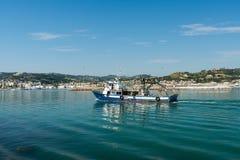 圣Benedetto del Tronto -阿斯科利皮切诺-意大利的沿海岸区 图库摄影