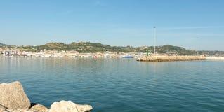 圣Benedetto del Tronto -阿斯科利皮切诺-意大利的港 库存图片