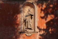 圣Bonaventura教会在罗马 详细资料 库存照片