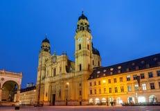 圣Cajetan Theatine教会在慕尼黑 免版税库存照片