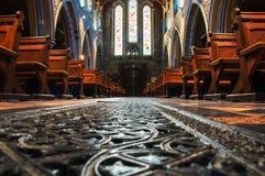 圣Canice大教堂内部在基尔肯尼,爱尔兰 免版税图库摄影