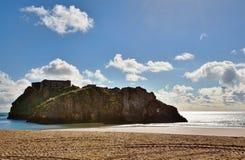 圣Catherines海岛, Tenby视图。 免版税库存照片