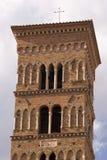 圣Cesareo大教堂的钟楼  库存图片