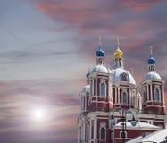 圣Clement巴洛克式的教会在莫斯科,俄罗斯 这大传教士复合体在18世纪被建立了 免版税库存图片