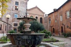 圣Cosimato教会在罗马 免版税库存图片