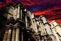 圣Cristóbal大教堂,哈瓦那,古巴 免版税库存照片