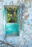 圣Croix,美国维尔京群岛五颜六色的废墟  库存照片