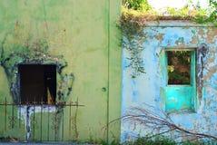 圣Croix,美国维尔京群岛五颜六色的废墟  库存图片