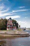 圣Demetrios教会在血液Uglich,俄罗斯的 免版税库存图片
