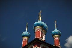 圣Demetrios教会在血液Uglich,俄罗斯的 库存照片