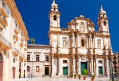 圣Dominic教会在巴勒莫,意大利 图库摄影