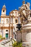 圣Dominic教会在巴勒莫,意大利 免版税库存照片