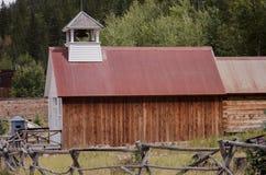 圣Elmo城镇厅和监狱在科罗拉多 免版税库存图片