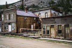 圣Elmo科罗拉多鬼城-被放弃的大厦 免版税库存照片