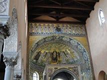 圣Eufrasie一间著名大教堂的内部在毛孔的 图库摄影