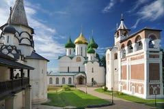 圣Euthymius修道院俯视的建筑合奏  库存图片