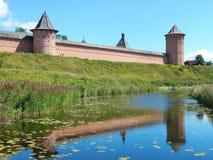 圣Euthymius救主修道院在苏兹达尔在俄罗斯 免版税库存照片