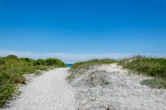 圣Foca梅伦杜尼奥海岸在Salento意大利 库存照片