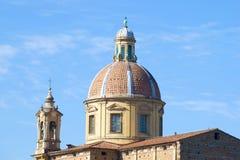 圣Frediano教会的圆顶Cestello特写镜头的 佛罗伦萨意大利 免版税库存照片