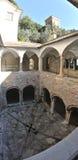 圣Fruttuoso修道院全景 库存图片