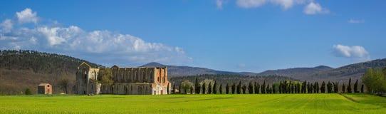圣Galgano修道院  图库摄影