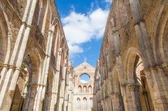 圣Galgano修道院 库存图片