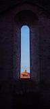 圣Galgano教堂在Montesiepi,托斯卡纳 免版税图库摄影
