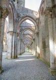 圣Galgano,托斯卡纳,意大利修道院  库存图片